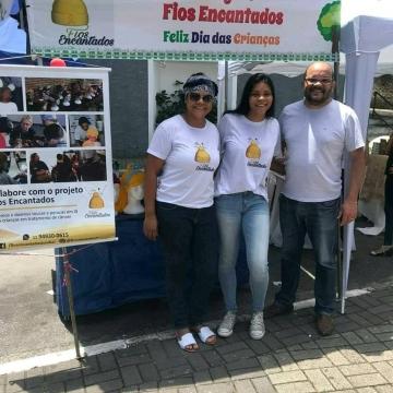 Fios Encantados participa da festa do Dia das Crianças em Caieiras