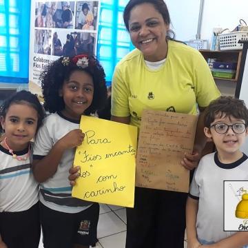 Fios Encantados visita a EMEB Ramiro Araújo Filho